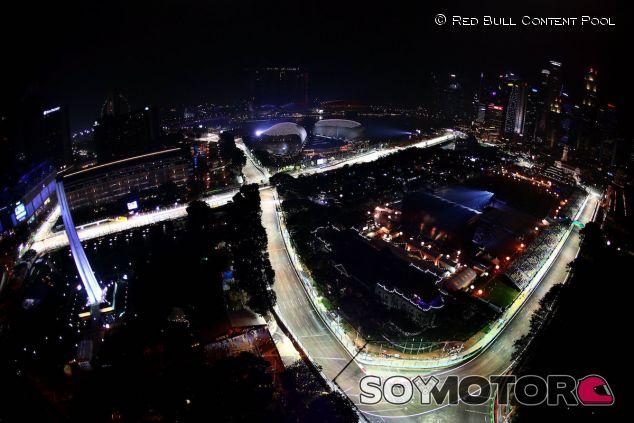 Vista aérea del trazado del Gran Premio de Singapur - LaF1
