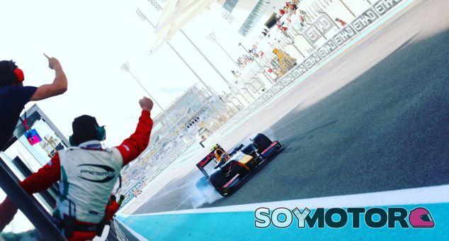 Gasly durante el GP de Abu Dabi de GP2 en el que se proclamó campeón - SoyMotor