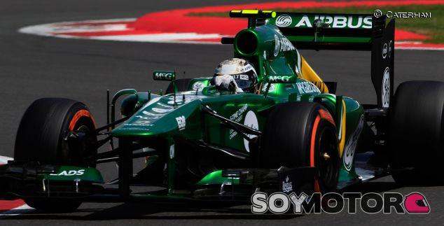 Giedo van der Garde en el GP de Gran Bretaña con su CT03