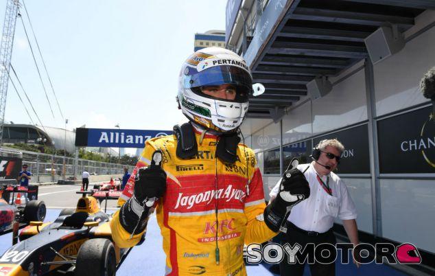 Giovinazzi, durante un Gran Premio de GP2 esta temporada - SoyMotor