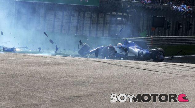 Giovinazzi en su accidente del sábado – SoyMotor.com