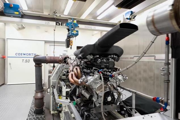 El V12 del GMA T.50 en el banco de pruebas de Cosworth - SoyMotor.com