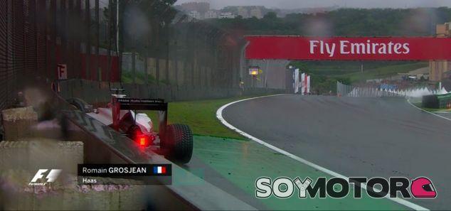 Grosjean, en el momento de su impacto antes de la carrera - LaF1
