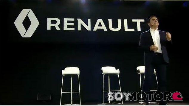 Carlos Ghosn en la presentación del retorno de Renault a la F1 - LaF1