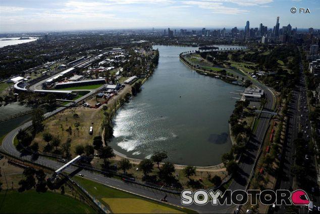 Vista áerea de Albert Park, donde arrancará la temporada en 2016 - LaF1.es