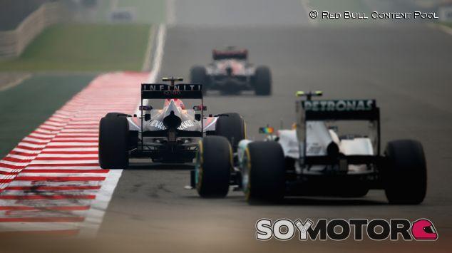 Acción en la pista de Buddh durante el GP de la India - LaF1