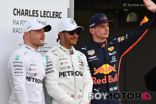 Valtteri Bottas, Lewis Hamilton y Max Verstappen en el GP de Mónaco F1 2019 - SoyMotor