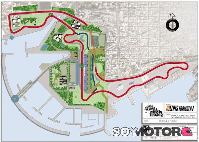 Trazado propuesto para el Gran Premio griego - LaF1