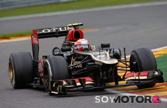 Romain Grosjean en el Lotus E21