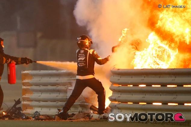 Grosjean aprueba la publicación de todos los vídeos de su accidente - SoyMotor.com