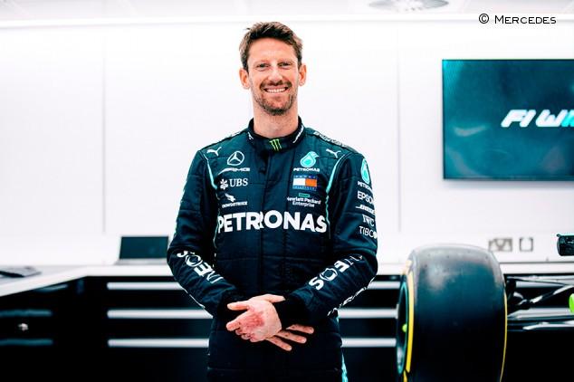 Grosjean: exhibición y test con Mercedes como despedida a la F1 - SoyMotor.com