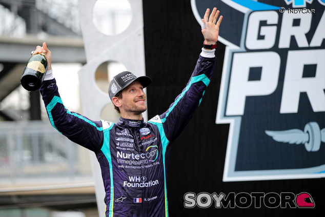La IndyCar engancha: Grosjean se anima a correr en su primer óvalo - SoyMotor.com