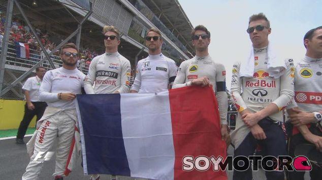 Romain Grosjean y otros pilotos antes del GP de Brasil - laF1