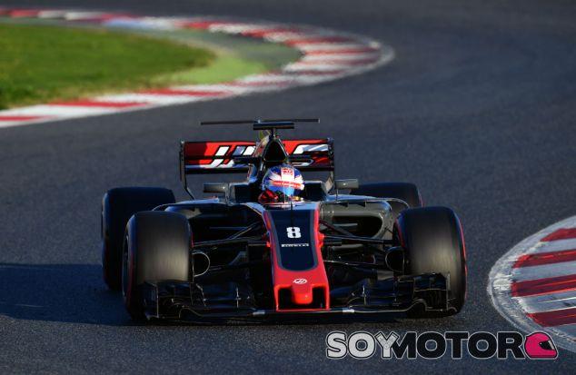 Haas continúa con problemas en los frenos, según Grosjean - SoyMotor
