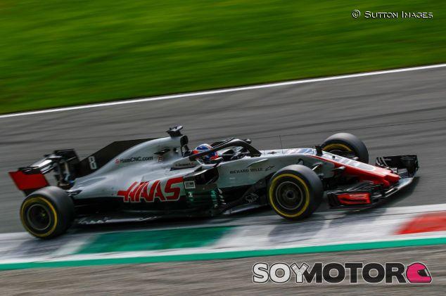 El coche de Romain Grosjean en Italia - SoyMotor