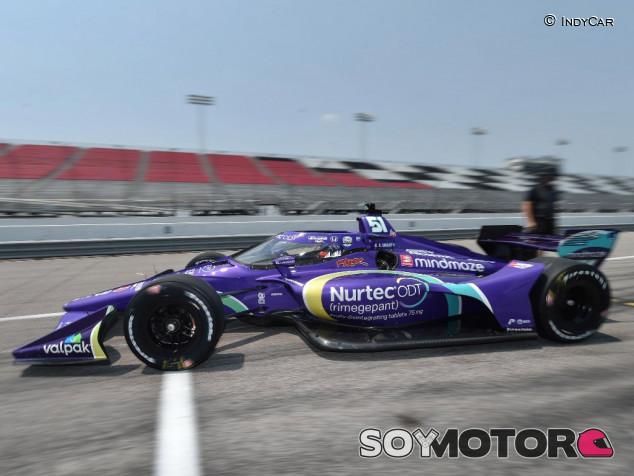 Grosjean prueba un óvalo por primera vez - SoyMotor.com