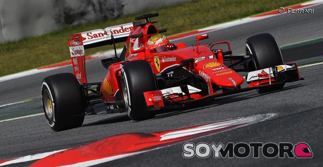 Esteban Gutiérrez en un test con Ferrari en Montmeló - LaF1