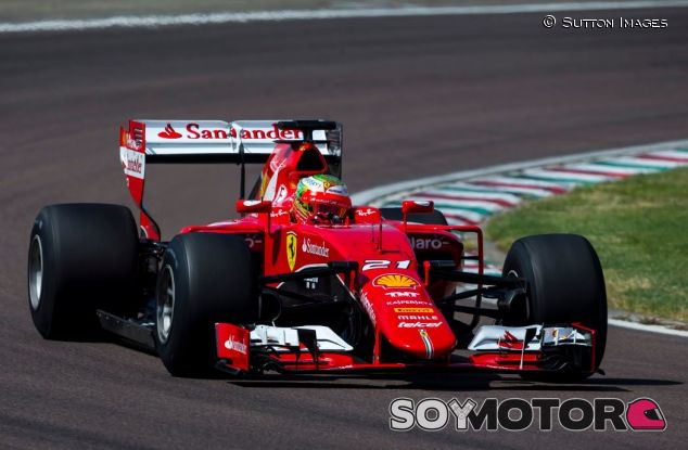 Gutiérrez en un test con Ferrari en Fiorano con los Pirelli de 2017 - SoyMotor