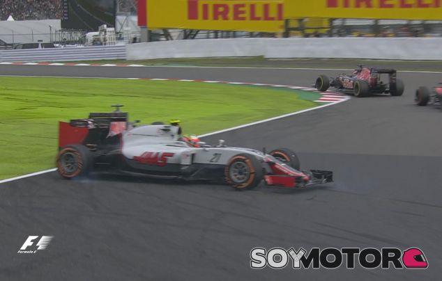 Momento del trompo de Esteban Gutiérrez en Suzuka - LaF1
