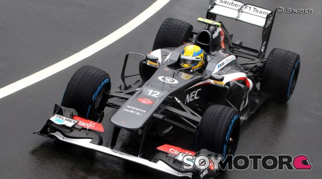 Esteban Gutiérrez en el Sauber C32