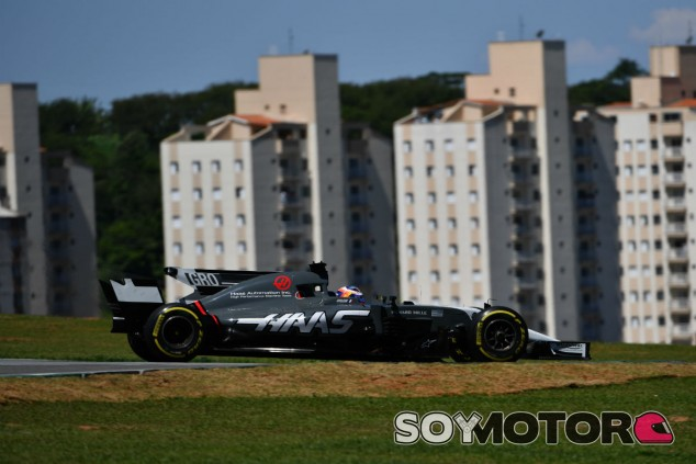 Grosjean en Interlagos - SoyMotor.com