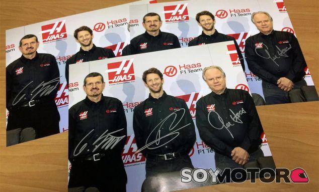 Gunther Steiner, Romain Grosjean y Gene Haas - LaF1
