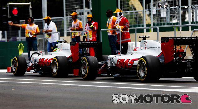Romain Grosjean y Esteban Gutiérrez en Bakú - LaF1