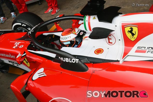 Ferrari fue el primer equipo de la parrilla en probar el halo - LaF1