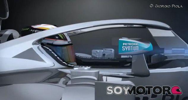La propuesta de Mercedes conocida como 'halo' tiene sus pros y sus contras - LaF1