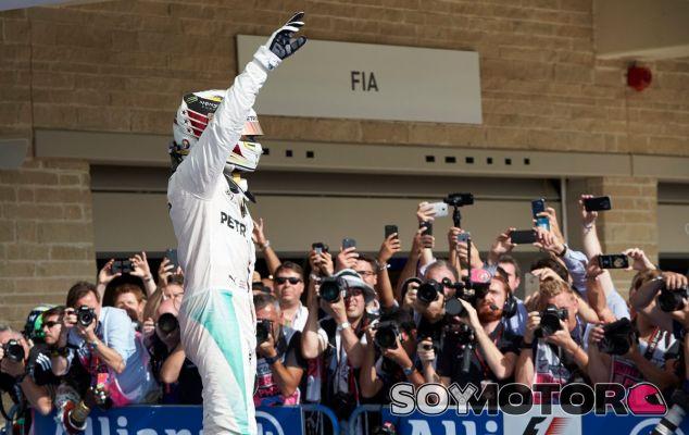 Hamilton durante el GP de Estados Unidos - SoyMotor