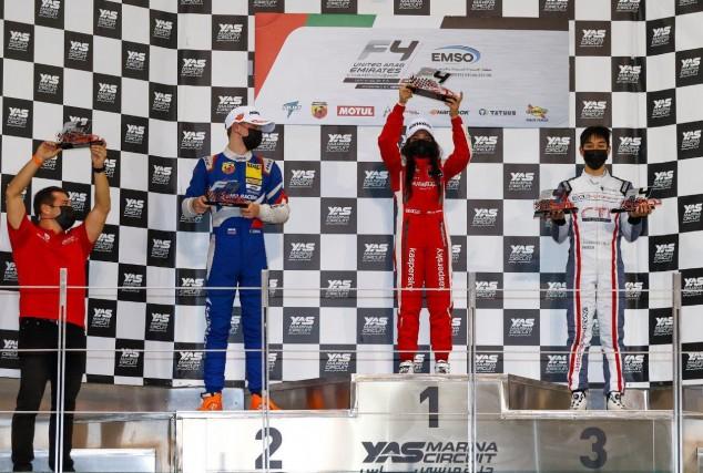 F4 EAU: Hamda Al Qubaisi vuelve a subir a lo más alto del podio - SoyMotor.com