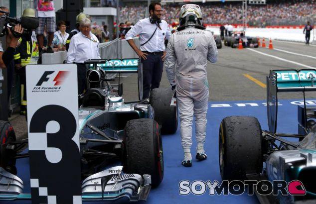 Lewis Hamilton tras terminar el Gran Premio de Alemania - LaF1