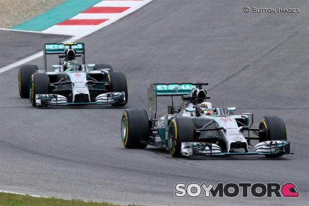 Lewis Hamilton y Nico Rosberg en Austria - LaF1