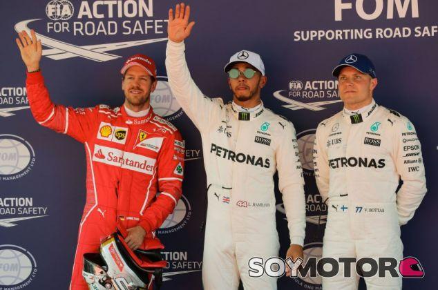 Los tres primeros de la clasificación del GP de España F1 2017 - SoyMotor.com