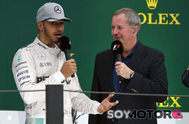 Lewis Hamilton y Martin Brundle - SoyMotor.com