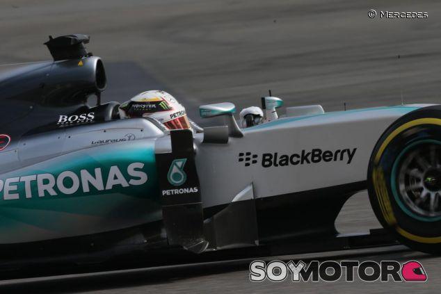 Lewis Hamilton en el Mercedes - LaF1