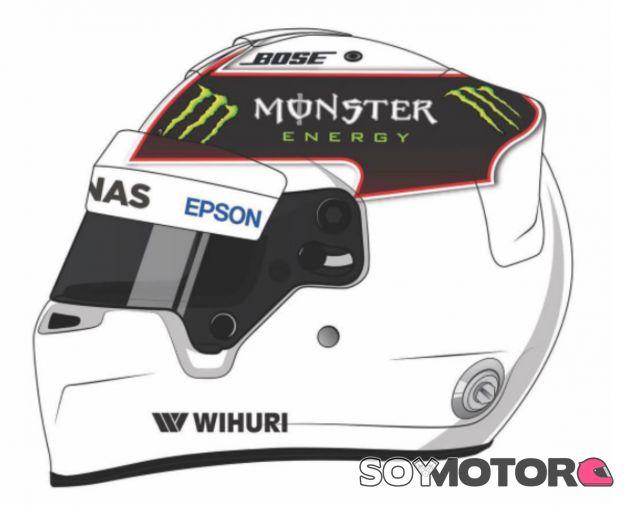 Imagen con la que Hamilton invita a sus seguidores a diseñar su casco - SoyMotor