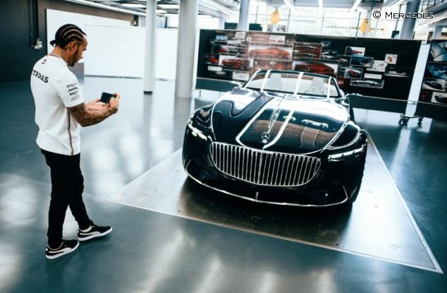 El Vision Mercedes-Maybach 6 Cabriolet y Hamilton: amor a primera vista - SoyMotor.com