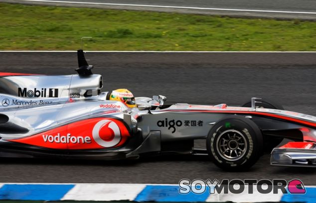 Hamilton durante su etapa en McLaren - LaF1