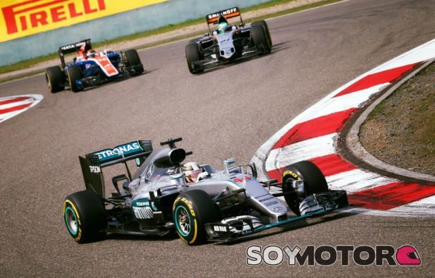 Lewis Hamilton en China - LaF1