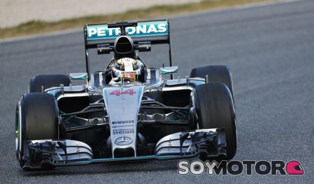 Lewis Hamilton en Montmeló - LaF1
