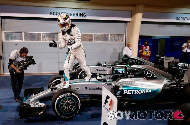 Lewis Hamilton en el pasado Gran Premio de Baréin - LaF1