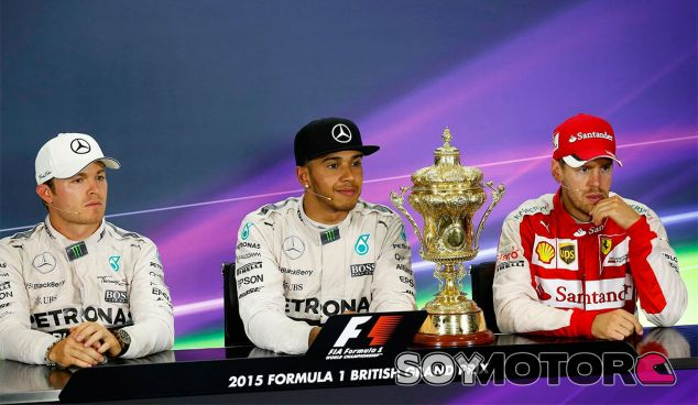 Los tres primeros clasificados del GP de Gran Bretaña - LaF1