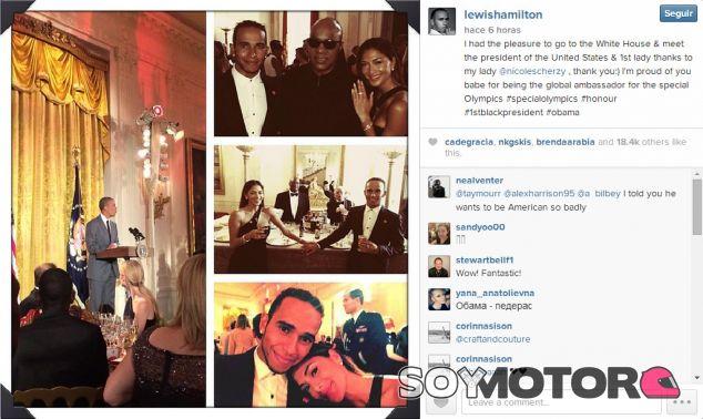 Instantáneas difundidas por Hamilton a través de Instagram - LaF1