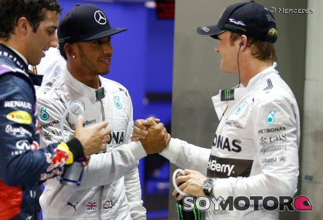 """Hamilton asegura que su relación con Rosberg """"ha vuelto a la normalidad"""" - LaF1.es"""