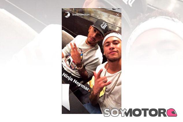 Lewis Hamilton con Neymar - SoyMotor