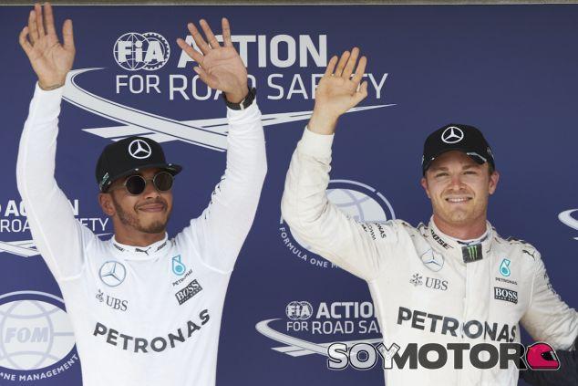 Lewis Hamilton y Nico Rosberg en Hungría - LaF1