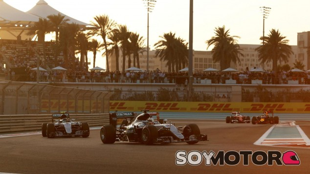 Hamilton y Rosberg en Abu Dabi - SoyMotor