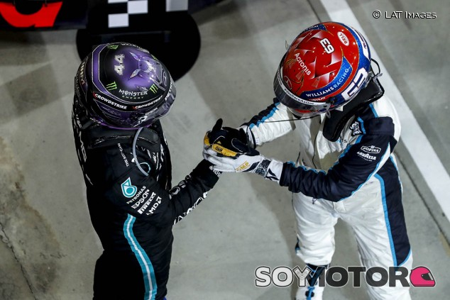 Hamilton y Russell desmienten que tengan mala relación - SoyMotor.com