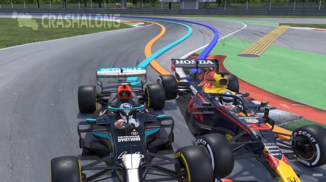 Reconstruyen el accidente de Hamilton y Verstappen en Monza - SoyMotor.com